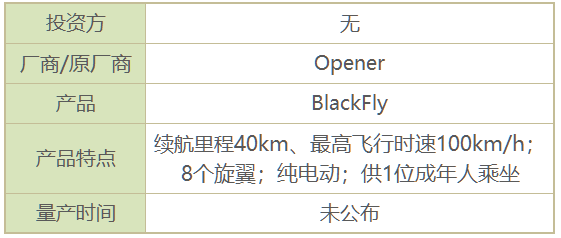 BlackFly飞行汽车