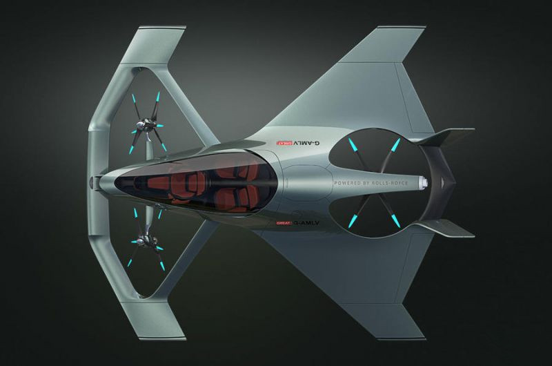 阿斯顿・马丁Volante Vision Concept飞行汽车