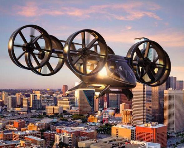 """美国贝尔直升机开发的""""飞行汽车"""