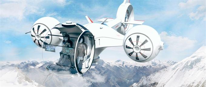 科幻飞行汽车