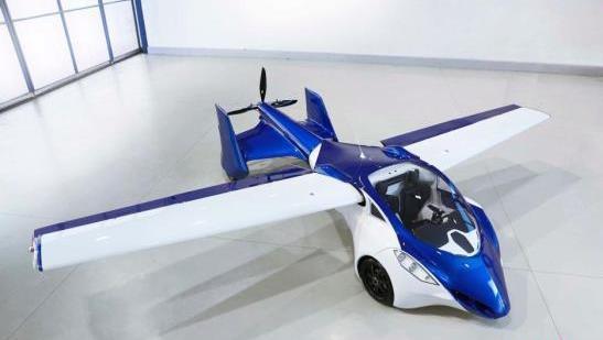 """奥地利展出的""""飞行汽车""""的概念车内观"""