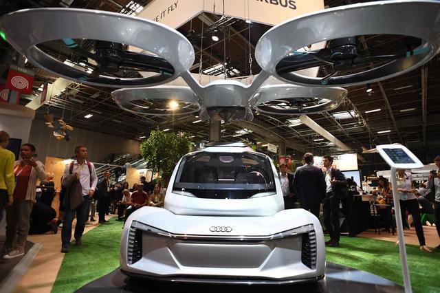 空客和奥迪展示共同开发的飞行汽车原型