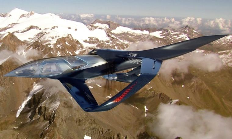 巴航工业发布概念飞行汽车外形很科幻