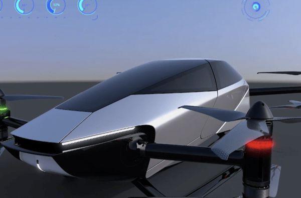 小鹏汇天第五代飞行器X2渲染图