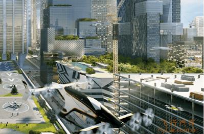 城市空中交通设想场景